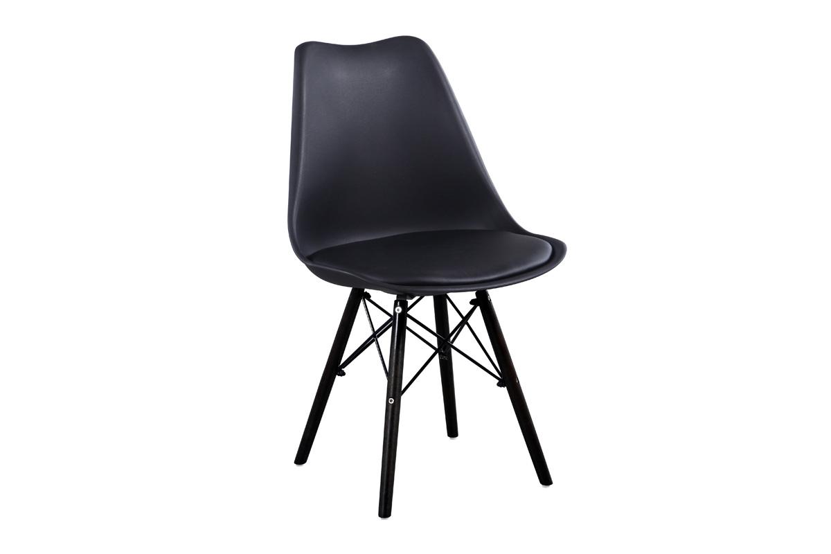 MAGMA plastová stolička, čierna
