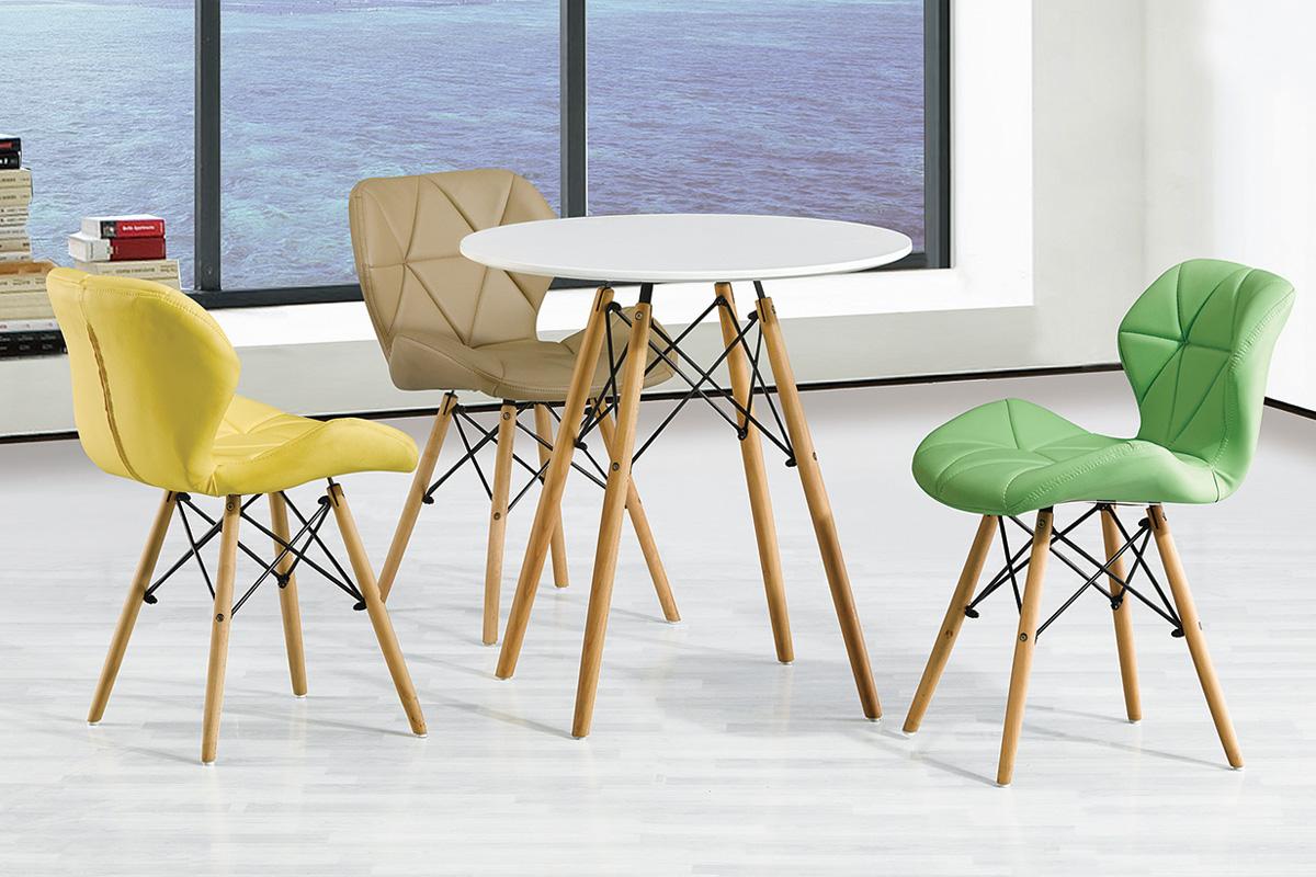 MODENA R80 okrúhly jedálenský stôl, buk/biela