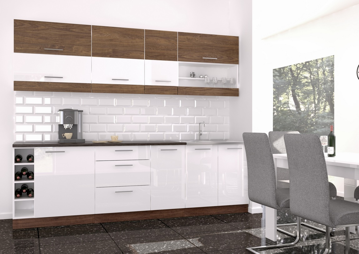 Kuchyňa MORO 260 vintage marine/biely lesk
