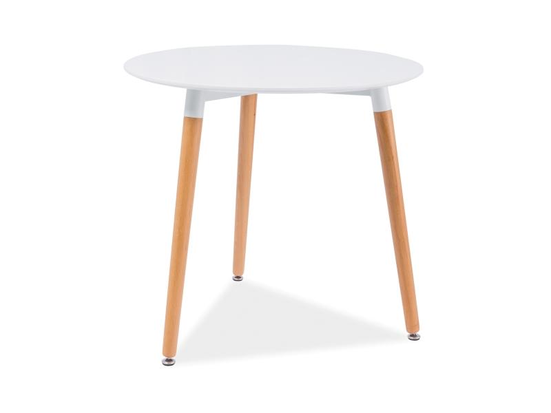 MOLAN okrúhly jedálenský stôl, buk/biela