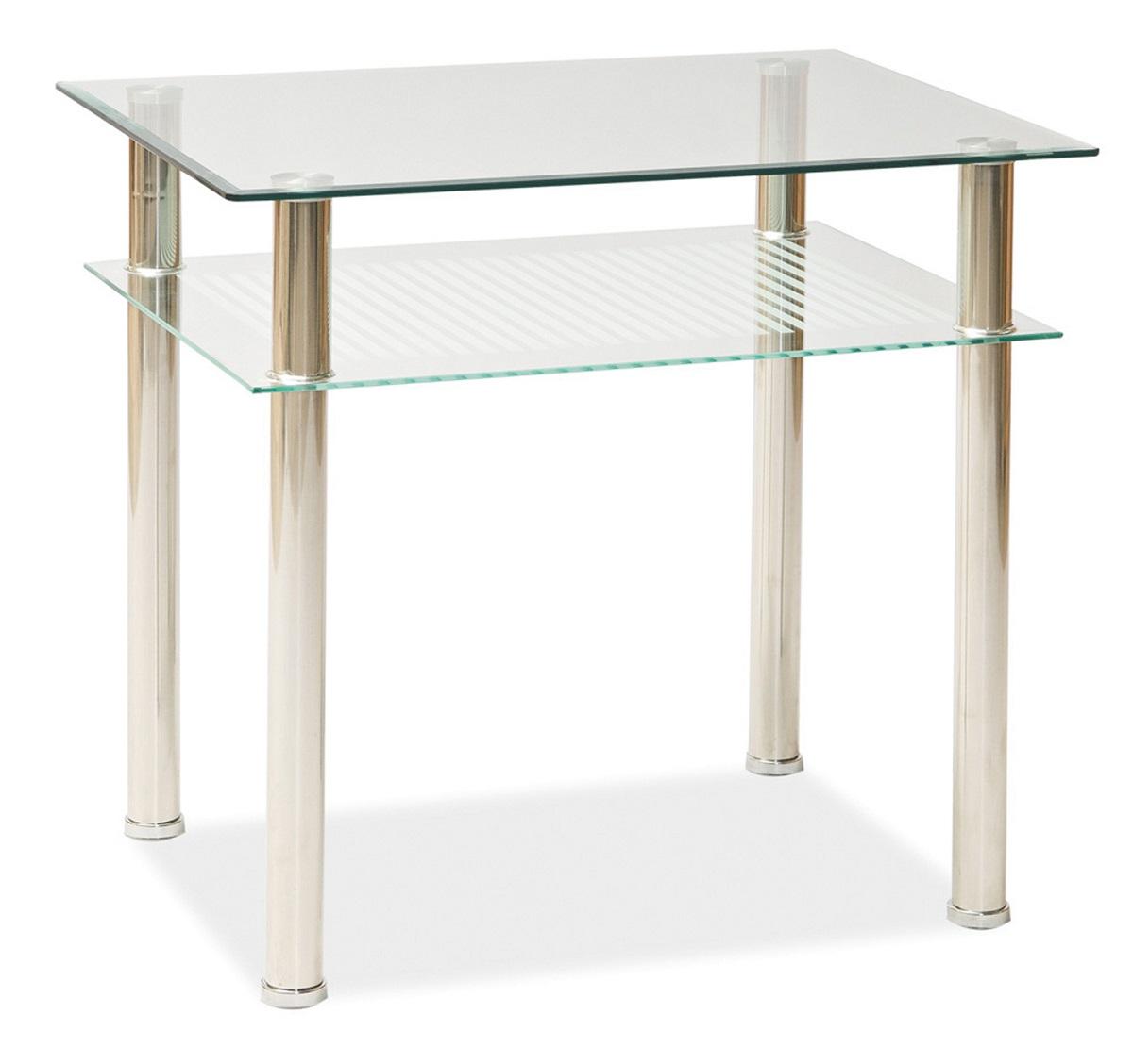 Byvajsnami SK, PIXI, 100x60 cm, chróm/sklo