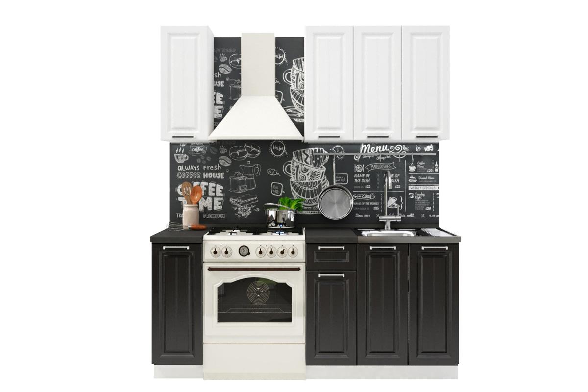PRAHA 120 malá kuchynská zostava, biele drevo/wenge