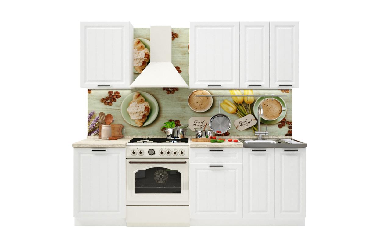PRAHA 160 kuchynská zostava, biela/biele drevo