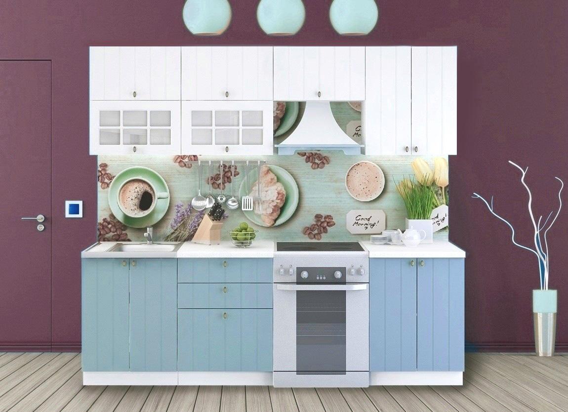 PROVENSAL kuchynská zostava 180/240 biela/modrá