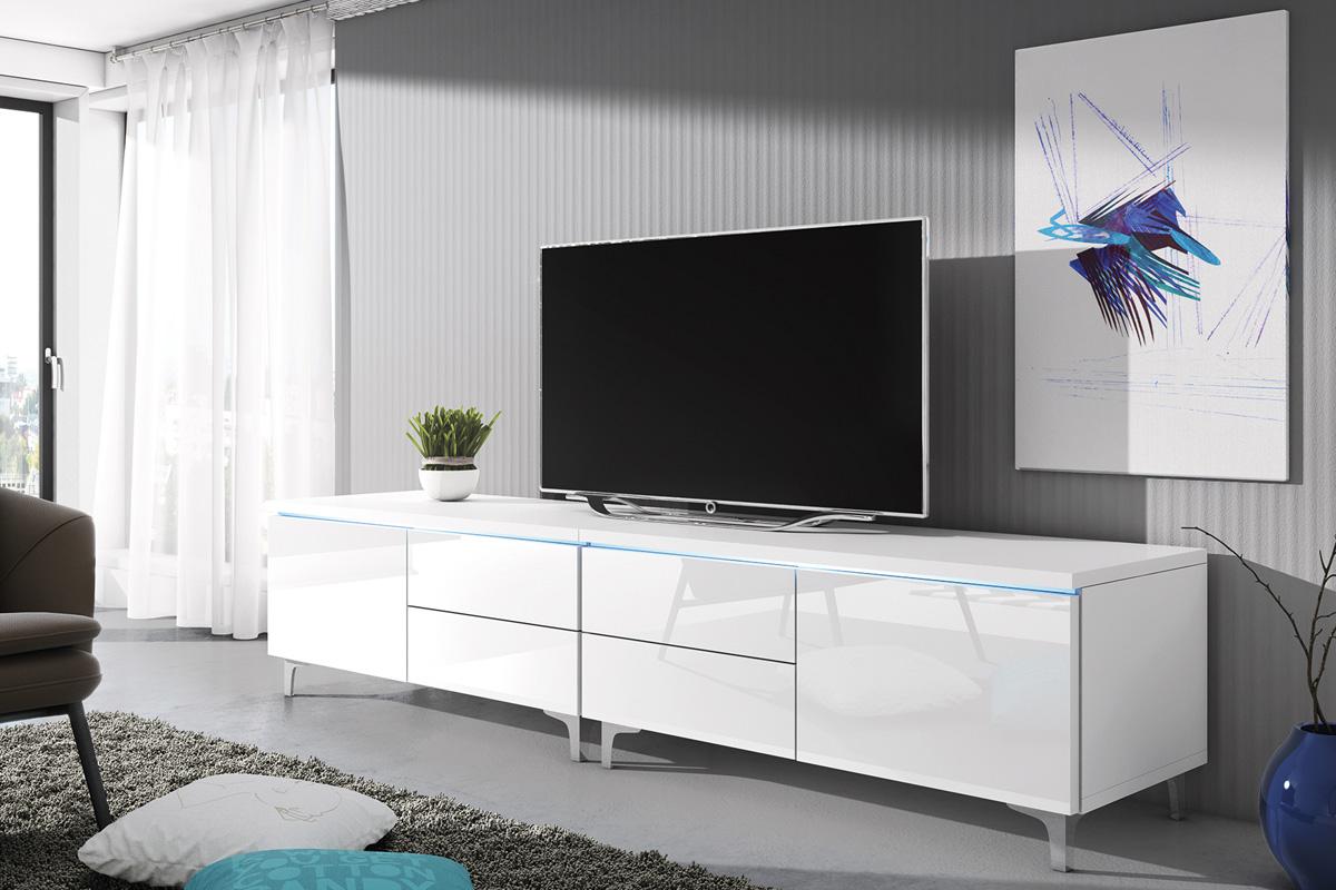 TEO 11, TV stolík biely lesk