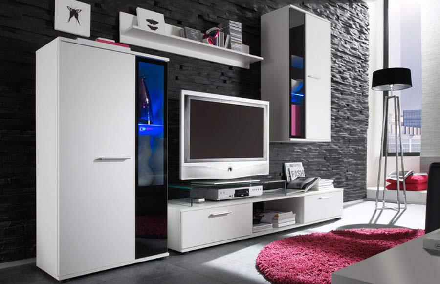 Biela obývacia stena SAMBA