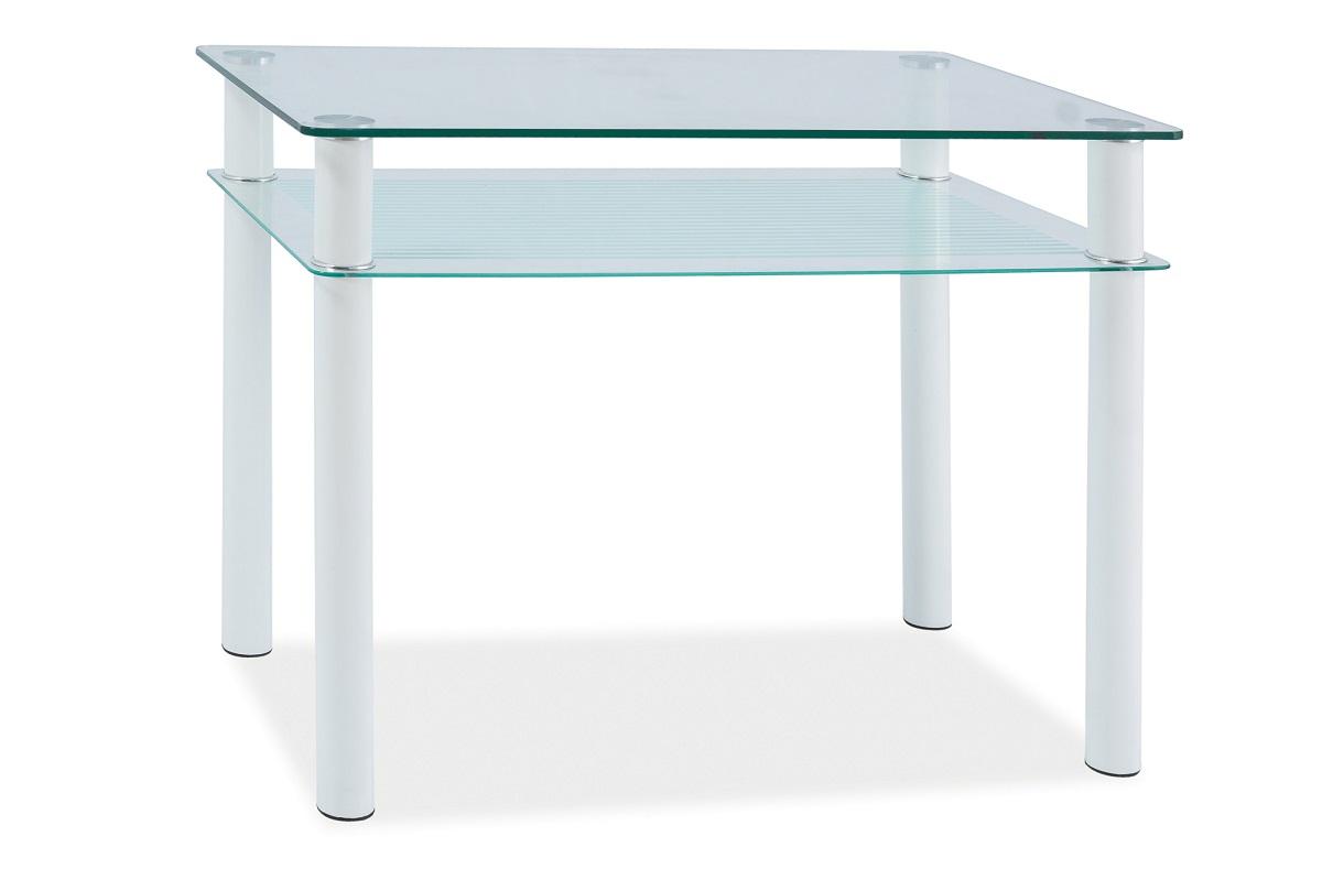 Byvajsnami SK, TONO, 80x60 cm, biela/sklo