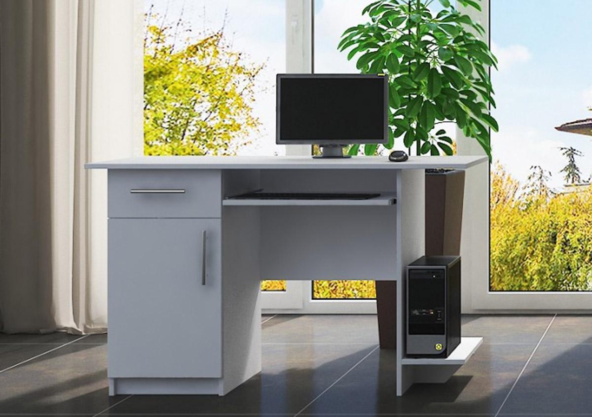 VerDesign, VEBER pracovný stôl ľavý, bela