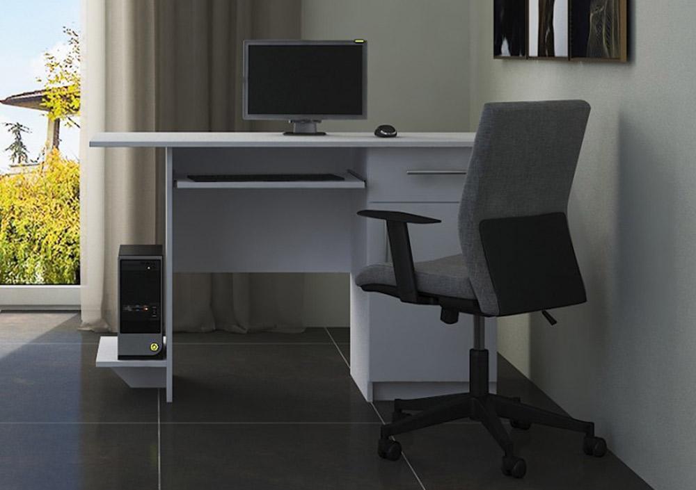 VerDesign, VEBER pracovný stôl pravý, bela