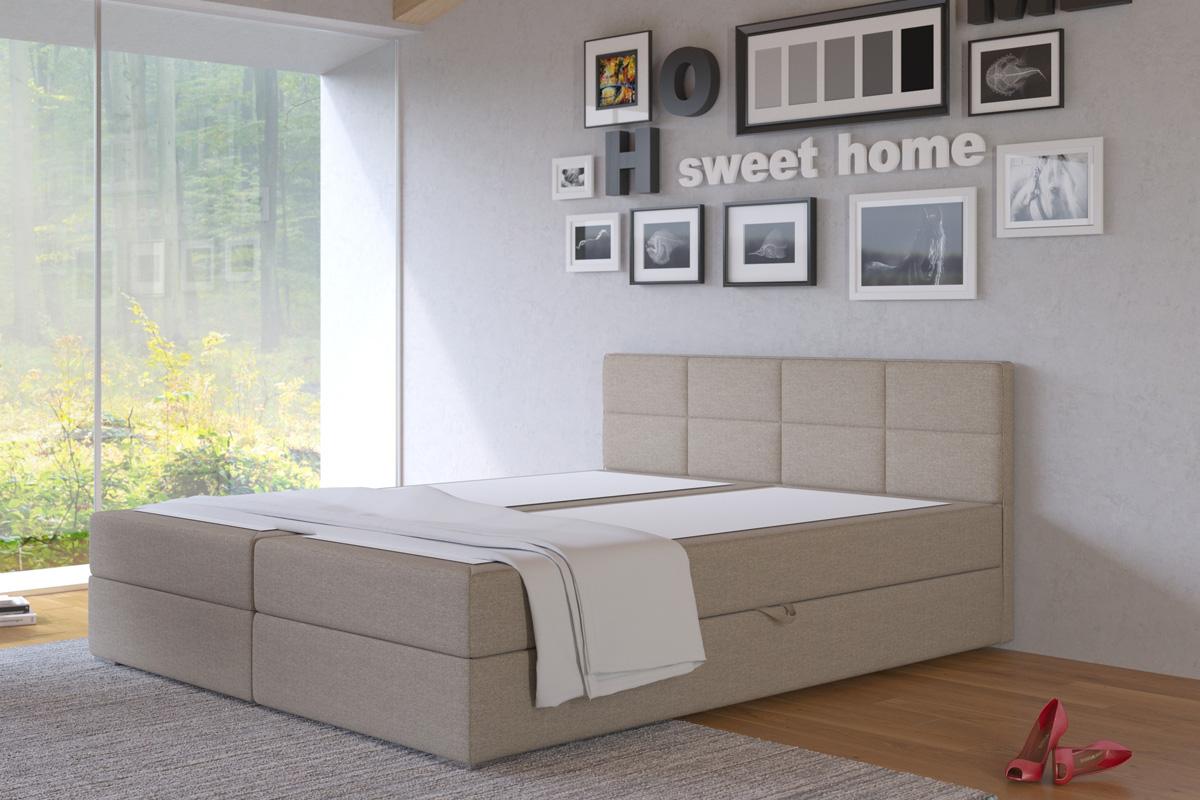 LIZE 180 manželská posteľ s úložných priestorom, Inari 23