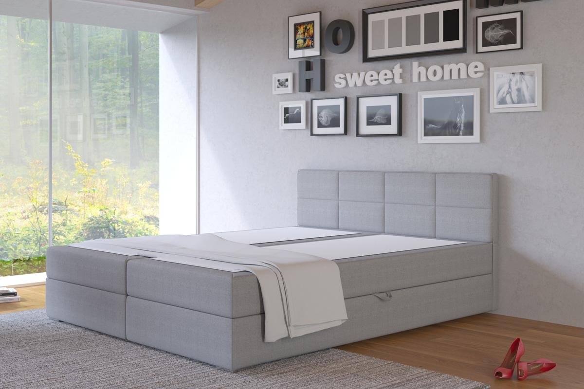 LIZE 180 manželská posteľ s úložných priestorom, Inari 91
