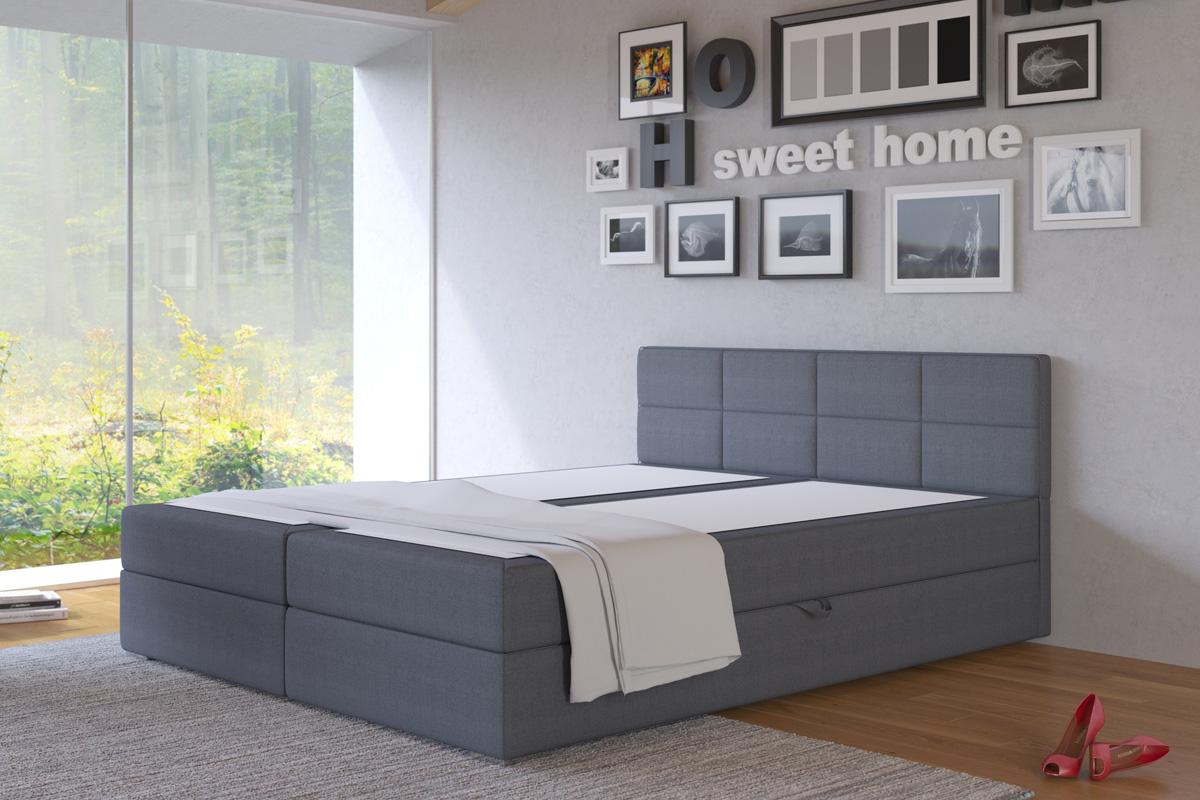 LIZE 160 manželská posteľ s úložných priestorom, Inari 96